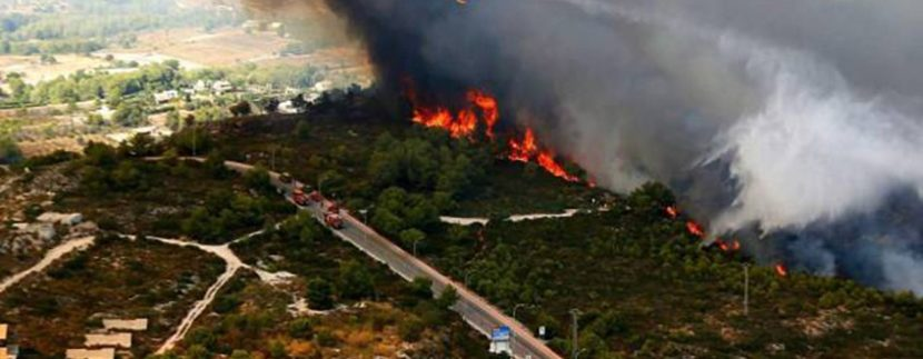 Fire in Benitachell & Javea